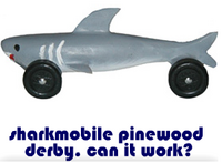 sharkmobile pinewood derby. can it work?