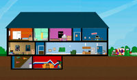 The layout of the house as seen in Strong Bad's Cool Game for Attractive People.