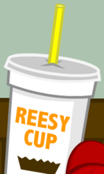 """...and a Reesy Cup Milkshake."""