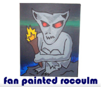 fan painted rocoulm