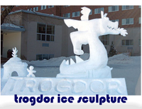 trogdor ice sculpture