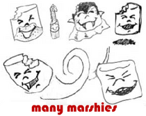 many marshies!!
