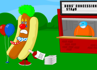 """It's a great day at Bubs' Concession Stand!"""