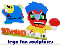 lego fan sculptures