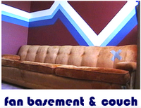 fan basement & couch