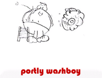 portly washboy