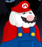 The King of Town As Mario